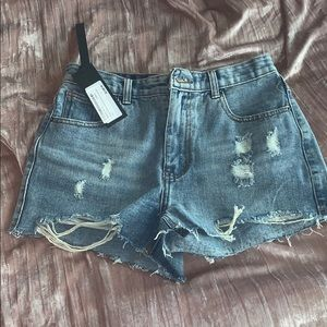 Jean shorts never worn.